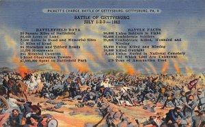 Pickett's charge, battle of Gettysburg Gettysburg, Pennsylvania, USA Civil Wa...