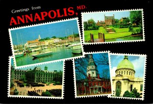 Maryland Annapolis Greetings Multi View