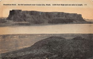 G33/ Coolee City Washington Postcard 1909 Steamboat Rock Geology