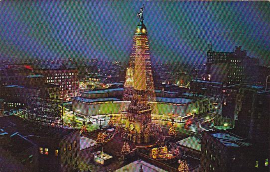 indiana indianapolis worlds tallest christmas tree downtown - Worlds Tallest Christmas Tree
