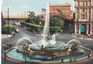 ROMA, Lazio, Italy, 1960-1970s; Piazza Esedra, Fountain