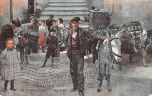 Artichokes Water Sellers Gibraltar 1911