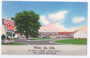 Motel De Ville New Castle Delaware DE US 40 Route 13 Advert