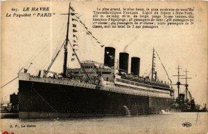 CPA AK Le Havre- Le Paquebot 'Paris' SHIPS (762630)