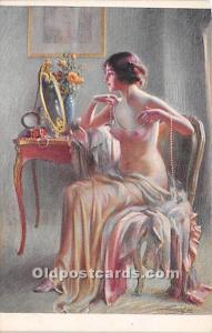 Pearls Nude Postcard Artist Enjolras Unused