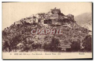 Old Postcard Eze Vue Generale