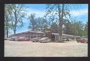 LAKE PROVIDENCE LOUISIANA HUGG'S RESTAURANT 1950's CARS VINTAGE POSTCARD