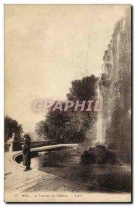 Old Postcard Nice Cascade du Chateau