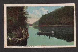 NY Greetings from SCHAGHTICOKE NEW YORK Postcard PC