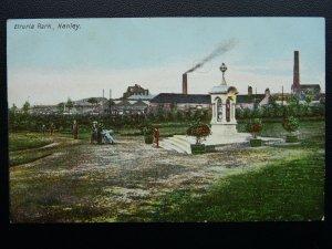 Staffordshire Stoke HANLEY Etruria Park - Old Postcard by J.M. Burkinshaw