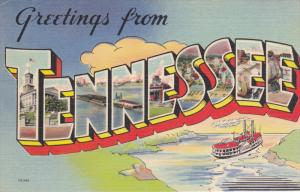 Large Letter Greetings , TENNESSEE , 30-40s #2
