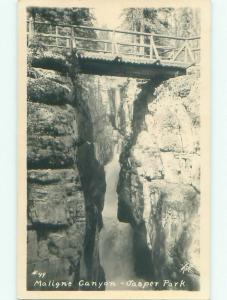 old rppc NICE VIEW Maligne Canyon In Jasper Park Alberta AB W0986