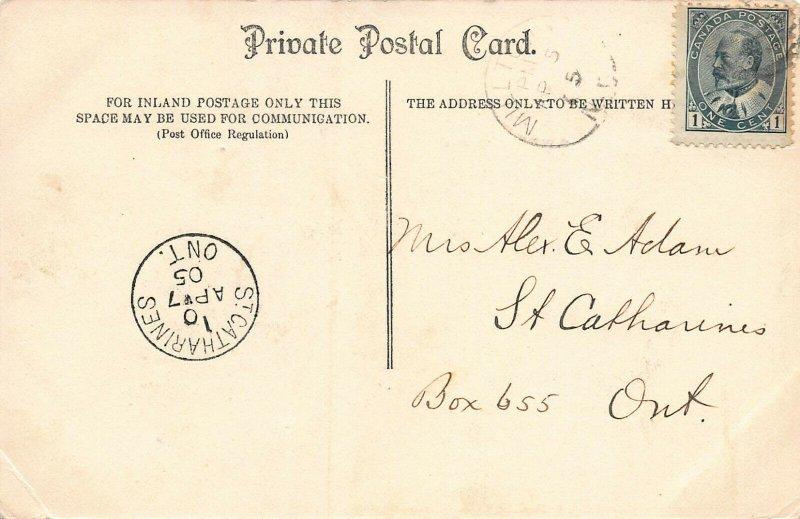 Grand Trunk Bonaventure Train Station, Montreal, Canada, Postcard, Used in 1905
