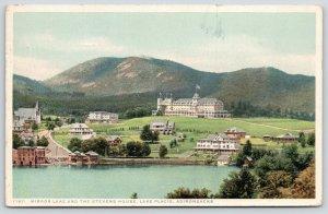Lake Placid New York~Detroit Publishing #71611~Mirror Lake & Stevens House~1915
