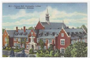 Flowers Hall Huntingdon College Montgomery Alabama linen postcard