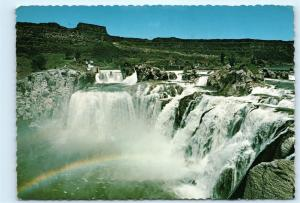 Twin Falls Idaho Rainbow over Shoshone Falls Vintage 4x6 Postcard A51