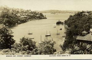 australia, SYDNEY, Mosman Bay Harbour (1930s) RPPC, Southern Cross Series No. 16