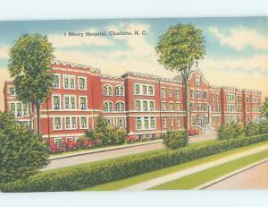 Unused Linen HOSPITAL SCENE Charlotte North Carolina NC J9342