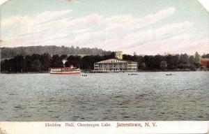Jamestown New York~Sheldon Hall From Chautauqua Lake~Steamer~1978 Postcard