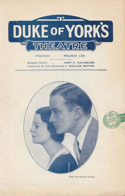 London Wall Frank Gregory John Van Druten The Duke Of Yorks Theatre Programme