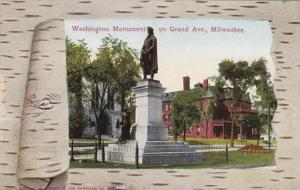 Wisconsin Milwaukee Washington Monument On Grand Avenue