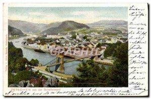 Postcard Old Tetschen von der Schaferwand