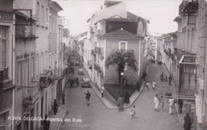 Azores Ponta Delgada Aspectos das Ruas Street Scene Real Photo