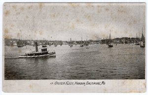 Baltimore, Md, Oyster Fleet, Harbor
