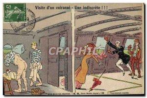Old Postcard Boat War Tour d & # 39un breastplate Sailors