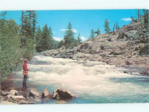 Pre-1980 FISHING SCENE Chester Vermont VT AF5518