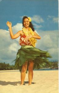 Lovely Hawaiian Hula Maiden sways to an Island Melody, 19...
