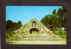 PA Our Lady of Lourdes Grotto UNIONTOWN Sisters St Basil Postcard Pennsylvania