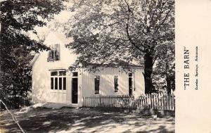 Eureka Springs AR~The Barn~Christmas Greetings To Your House~Fence~1947 RPPC