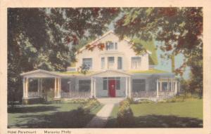 WOLFVILLE NOVA SCOTIA CA~HOTEL PARAMOUNT~NOW LANDMARK EAST SCHOOL POSTCARD 1949