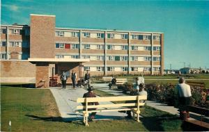 Saskatoon Saskatchewan~Mount Royal Lodge~Old Men Playing Shuffleboard~1960s PC
