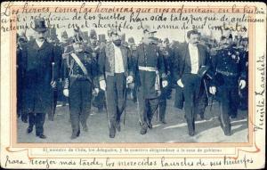 argentina, BUENOS AIRES, Ministro de Chile y Los Delegados (1899)