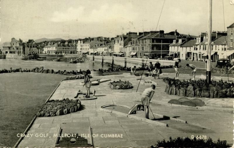UK - Scotland. Millport, Isle of Cumbrae. Crazy Golf