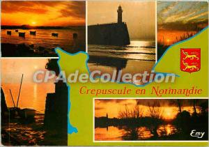Postcard Modern Crepuscule in Normandy