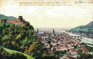 Germany - Alt Heidelberg Du feine du Stadt an Ehren reich 01.89