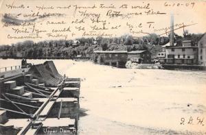 Appleton Wisconsin Upper Dam Waterfront Antique Postcard K84401