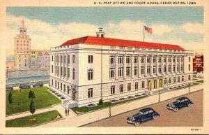 Iowa Cedar Rapids Post Office and Court House 1945 Curteich