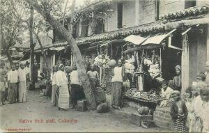 Ceylon Colombo native fruit stall