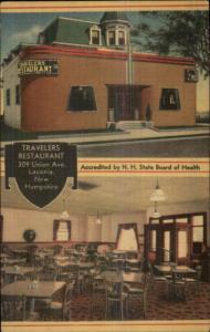 Laconia NH Traveler's Restaurant NICE LINEN Postcard