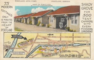 PORTLAND, Oregon, 1910-20s ; Portland Auto Camp , map