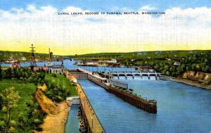 WA - Seattle. Canal Locks