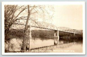 Bridgeport-Bagley-Prairie du Chien~Wisconsin Great River Rd? Bridge~1930s RPPC