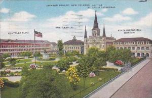 Louisiana New Orleans Saint Louis Cathedral Jackson Square 1951