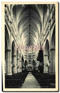 Old Postcard Chateauneuf sur Cher the interior of the Basilica