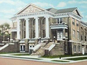 Vintage Postcard First Baptist Church Paragould Arkansas Linen Unposted