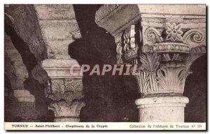 Old Postcard Tournus Saint Philibert Capitals From The Crypt
